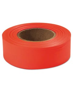 "Empire® Flagging Tape, Glo-Orange, 1"" X 200Ft, Plastic"