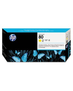 HP Hp 80, (C4823A) Yellow Printhead & Cleaner