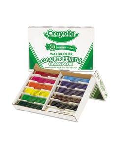 Crayola® Watercolor Pencil Classpack Set, 3.3 Mm, 2B (#1), Assorted Lead/Barrel Colors, 240/Pack