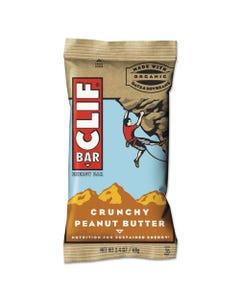 CLIF® Bar Energy Bar, Crunchy Peanut Butter, 2.4 Oz, 12/Box
