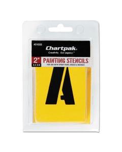 Chartpak® Painting Stencil Set, A-Z Set/0-9, Manila, 35/Set