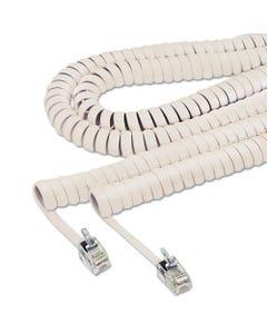 Softalk® Coiled Phone Cord, Plug/Plug, 25 Ft., Beige