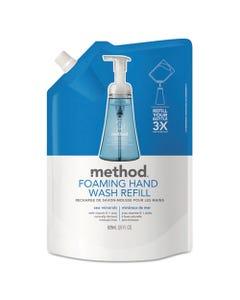 Method® Foaming Hand Wash Refill, Sea Minerals, 28 Oz Pouch, 6/Carton