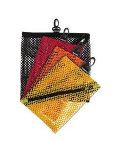 Vaultz® Mesh Storage Bags, Assorted Colors, 4/Pk