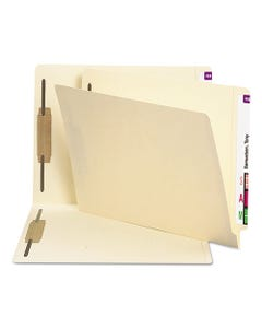 """Smead® Manila End Tab 2-Fastener Folders With Reinforced Tabs, 0.75"""" Expansion, Straight Tab, Letter Size, 11 Pt. Manila, 250/Box"""