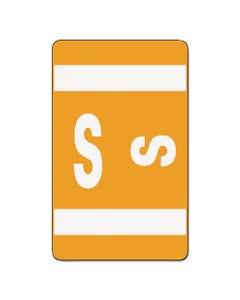 Smead® Alphaz Color-Coded Second Letter Alphabetical Labels, S, 1 X 1.63, Orange, 10/Sheet, 10 Sheets/Pack