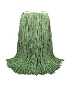 "Boardwalk® Cut-End Yarn Mop Head, Green, 1 1/4"" Headband, 12/Carton"