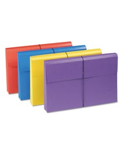 """Smead® Expanding Wallet W/ Antimicrobial Product Protection, 2"""" Expansion, 1 Section, Legal Size, Assorted, 4/Pack"""