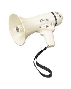 Champion Sports Megaphone, 4-8W, 400 Yard Range, White