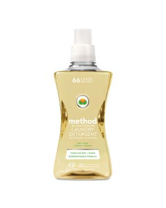 Method® 4X Concentrated Laundry Detergent, Free & Clear, 53.5 Oz Bottle, 4/Carton