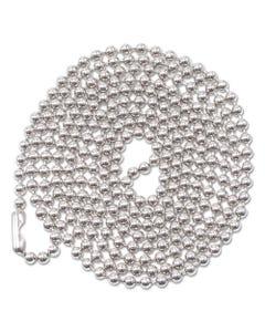 "Advantus Id Badge Holder Chain, Ball Chain Style, 36"" Long, Nickel Plated, 100/Box"