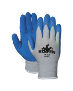 MCR™ Safety Memphis Flex Seamless Nylon Knit Gloves, Large, Blue/Gray, Dozen