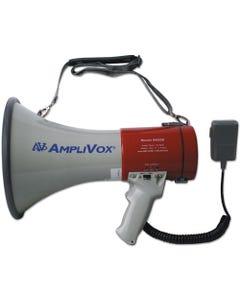 AmpliVox® Mitymeg Piezo Dynamic Megaphone, 25W W/Coiled Microphone