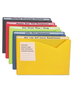 C-Line® Write-On Poly File Jackets, Straight Tab, Letter Size, Assorted Colors, 25/Box