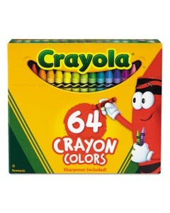 Crayola® Classic Color Crayons In Flip-Top Pack With Sharpener, 64 Colors