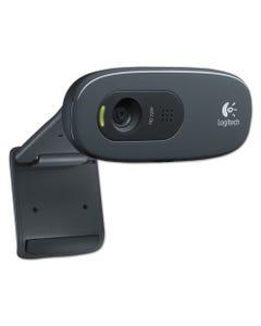 Logitech® C270 Hd Webcam, 1280 Pixels X 720 Pixels, 1 Mpixel, Black