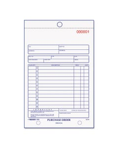 Rediform® Purchase Order Book, Bottom Punch, 5 1/2 X 7 7/8, 3-Part Carbonless, 50 Forms