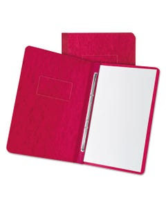"""Oxford™ Pressboard Report Cover, 2 Prong Fastener, Letter, 3"""" Capacity, Executive Red"""