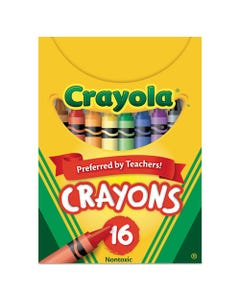 Crayola® Classic Color Crayons, Tuck Box, 16 Colors