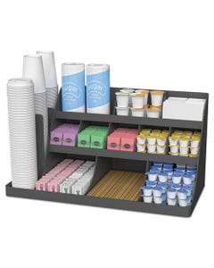 Mind Reader Extra Large Coffee Condiment And Accessory Organizer,24 X 11 4/5 X 12 1/2, Black