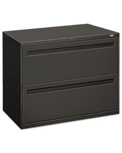 HON® 700 Series Two-Drawer Lateral File, 36W X 18D X 28H, Charcoal