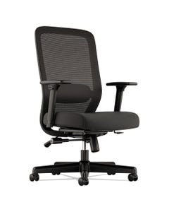 HON® Exposure Mesh High-Back Task Chair, Supports Up To 250 Lbs., Black Seat/Black Back, Black Base