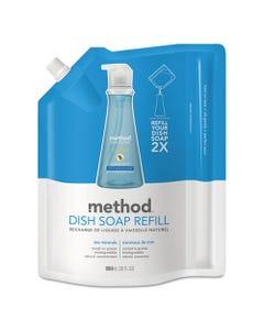 Method® Dish Soap Refill, Sea Minerals, 36 Oz Pouch, 6/Carton