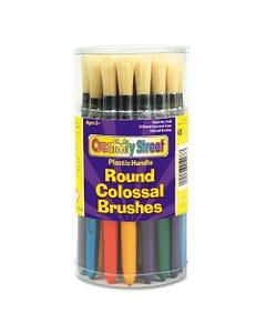 Creativity Street® Colossal Brush, Natural Bristle, Round, 30/Set