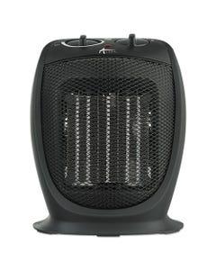 """Alera® Ceramic Heater, 7 1/8""""W X 5 7/8""""D X 8 3/4""""H, Black"""
