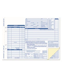 TOPS™ Auto Repair Four-Part Order Form, 8 1/2 X 11, Four-Part Carbonless, 50 Forms