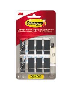 Command™ Spring Hook, 5/8W X 3/4D X 1 1/2H, Slate, 8 Hooks/Packs