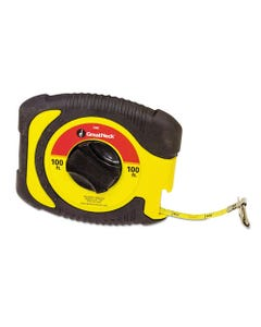 """Great Neck® English Rule Measuring Tape, 3/8"""" X 100Ft, Steel, Yellow"""