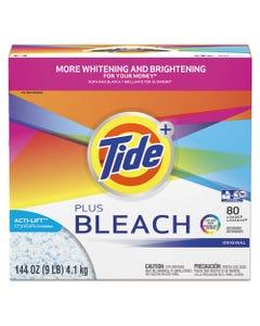Tide® Laundry Detergent With Bleach, Tide Original Scent, Powder, 144 Oz Box