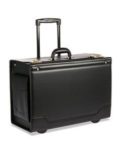 STEBCO Rolling Catalog Case, 21 3/4 X 15 1/2 X 9 3/4, Black
