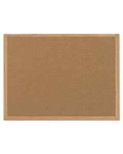 MasterVision® Value Cork Bulletin Board With Oak Frame, 36 X 48, Natural