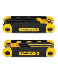 Stanley® Folding Metric And Sae Hex Keys, 2/Pk