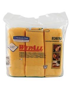 WypAll® Microfiber Cloths, Reusable, 15 3/4 X 15 3/4, Yellow, 24/Carton