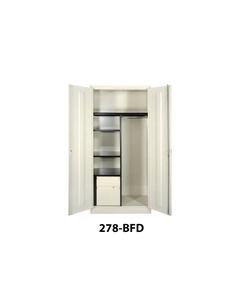 Combination Storage Cabinet, 2 Locking Doors, Blue