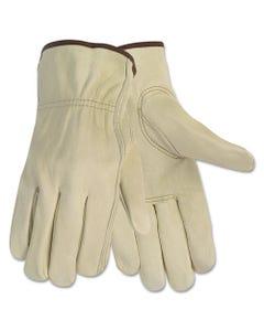 MCR™ Safety Economy Leather Driver Gloves, Medium, Beige, Pair