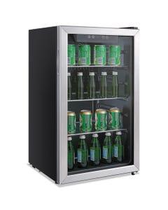 Alera™ 3.4 Cu. Ft. Beverage Cooler, Stainless Steel/Black