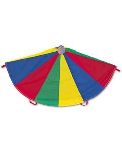 Champion Sports Nylon Multicolor Parachute, 12-Ft. Diameter, 12 Handles