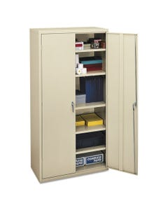 HON® Assembled Storage Cabinet, 36W X 18 1/8D X 71 3/4H, Putty