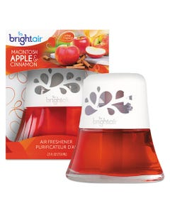 Scented Oil Air Freshener, Macintosh Apple And Cinnamon, Red, 2.5 Oz