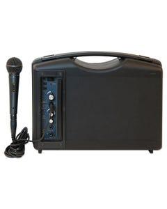 AmpliVox® Bluetooth Audio Portable Buddy With Wired Mic, 50W, Black