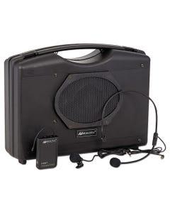 AmpliVox® Bluetooth Audio Portable Buddy With Wireless Handsfree Mic, 50W, Black