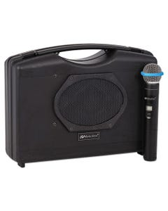 AmpliVox® Bluetooth Audio Portable Buddy With Wireless Handheld Mic, 50W, Black