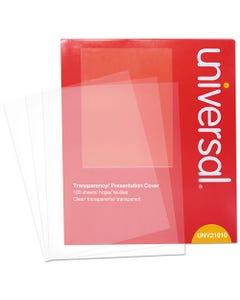 Universal® Transparent Sheets, B&W Laser/Copier, Letter, Clear, 100/Pack