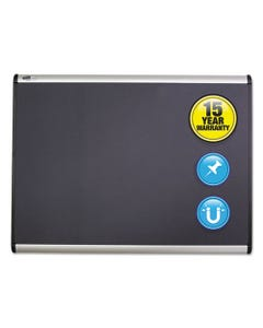 Quartet® Prestige Plus Magnetic Fabric Bulletin Board, 72 X 48, Fiberboard/Plastic Frame