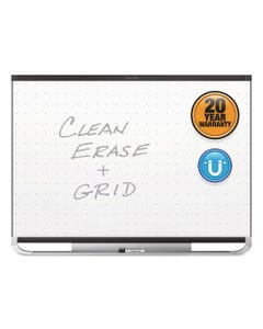 Quartet® Prestige 2 Magnetic Total Erase Whiteboard, 96 X 48, Black Frame