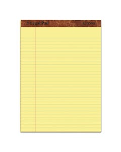 """TOPS™ """"The Legal Pad"""" Ruled Pads, Wide/Legal Rule, 8.5 X 11.75, Canary, 50 Sheets, Dozen"""